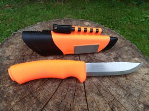 mora bushcraft survival orange black